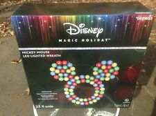 Brand NeW~Disney Disney Magic Holiday Mickey Mouse Multi-Color LED Wreath Last 1