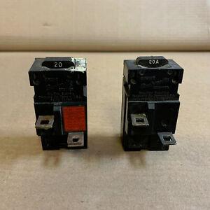 lot of 2 Pushmatic Bulldog 31120 P120 20 Amp 1 Pole Circuit Breaker