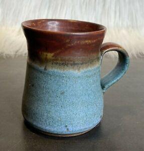 2013 Dave Blakeslee Signed Pottery Coffee Mug 10-12oz Spody B/T Clay Color Glaze