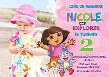 Dora, Dora the Explorer, Birthday Party Invitation