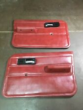 86-92 JEEP COMANCHE MJ OEM MANUAL DOOR PANELS RED GREAT DEAL! RARE!