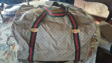 Gucci Brown Canvas & Leather Micro Duffle Travel Bag with case. Near Perfect