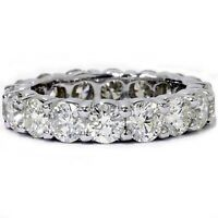 3.99ct Round Diamond Engagement Wedding Band Eternity Ring Solid 14k White Gold