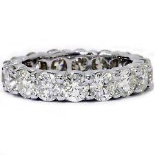 3.99ct Round Diamond Engagement Wedding Band Eternity Ring Solid 14k White Gold
