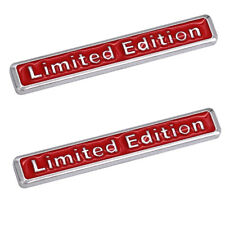 x2 LIMITED EDITION RED 3D Boot Badge Emblem Car Sticker Chrome Metal Audi BMW