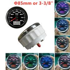 W/Hourmeter Device 85mm 8 Color Backlight Car Boat SUV 8K RPM Digital Tachometer