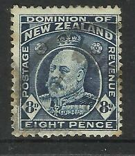 NEW ZEALAND 1909 KING EDWARD VII 8d Blue USED