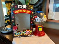Vintage M&M's Candy Gumball Dispenser Classic Logo Original 1991 Mars + BOX Rare