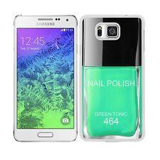 "Funda carcasa para Samsung Galaxy Alpha diseño pintauñas verde agua ""Green Tonic"