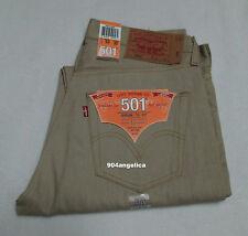 Levis 501 Button Fly Shrink-to-Fit  Straight Leg Jeans 33X32 NWT