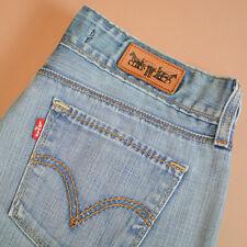 Levi 571 Jeans Straight Leg Zip Fly Blue Vintage Women's (LabelW29L34) W 29 L 34