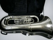 Bb Besson Tuba New Standard compensated 3 valves. silver Plated