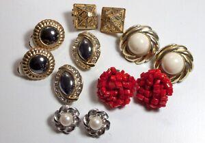 Konvolut alter Modeschmuck, Ohrclips, Vintage Schmuck,Ohrschmuck, Nachlass
