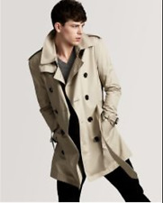 New Burberry Brit Men's Kensington Heritage Trench Coat Taupe Brown Sz XXL $1795