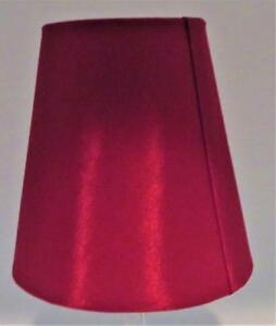 """Clip-On Lamp Shade, Red Bell, 3 1/8"""" x 5"""" x 5"""" H"""