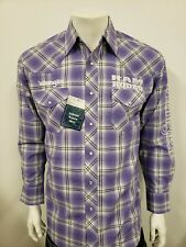 NWT Wrangler Dodge Ram Purple Logo Rodeo Embroidered Long Sleeve.(M) Shirt