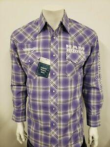 NWT Wrangler Dodge Ram Purple Logo Rodeo Embroidered Long Sleeve.(M) Shirt