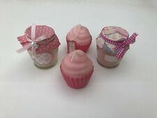 Lot de 4 bougies Modèles Cupcake et pot/bocal Maisons du monde, Neuf !
