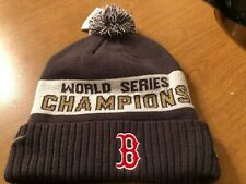 NIKE BOSTON RED SOX 2018 WORLD SERIES CHAMPIONS REMOVABLE POM BEANIE HAT