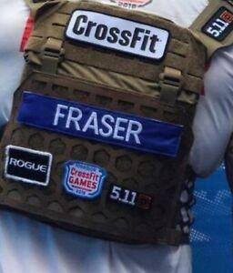 """1x Custom Hook And Loop Name Patch 9""""x2"""" CrossFit Games Murph Plate Carrier 🇬🇧"""