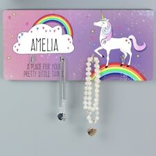 Personalised Unicorn Wall Hooks Bedroom or Home Unicorn. Child Kids Girls