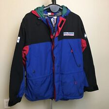 vintage tommy hilfiger 3m Reflective Colorblock Jacket L Saling Gear Spell Out