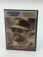 1989  Reggie Jackson Starting Lineup Card - Baseball Greats Oakland A's