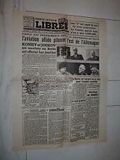 FAC-SIMILE A LA UNE JOURNAL LIBRES 16/02 1945 YALTA ROOSEVELT CHURCHILL STALINE