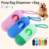 Mini Pet Dog Bone Shape Waste Poo Garbage Dispenser Box Clean Up Bag Holder Case