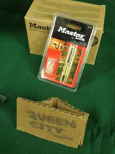 """Master Lock bright brass 3"""" surface mount door lock/barrel bolt 5076D"""