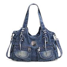 fashion leisure large capacity fashion jeans purse shoulder bag  002