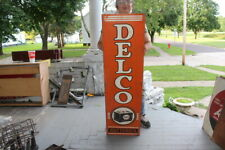 """Large Delco Batteries Car Battery Chevrolet Gas Oil 48"""" Metal Sign"""
