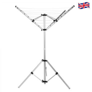 Portable Outdoor Indoor Rotary Camping Clothes Line Dryer Clothesline Foldable
