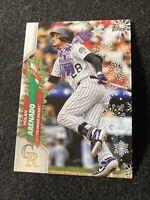 2020 Topps Holiday Baseball Nolan Arenado SP Short Print Scarf RARE 71 HW48