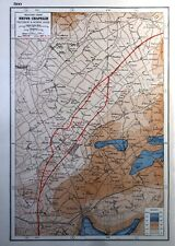 Vintage Antique Original 1920 Map Print Of The Western Front Neuve Chapelle