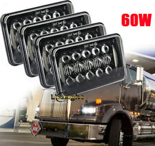 "4pc 4x6"" Led Projector Headlights for Kenworth FREIGHTLINER FLD120 FLD112 Truck"