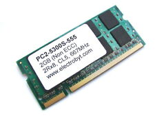 Electrobyt PC2-5300S-555 2GB 2Rx8 200-Pin SODIMM 667MHz DDR2 Laptop Memory