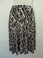 Vtg 1980s IDEOLOGY Skirt Flare Zebra Animal Print Black White Women Sz XS NWOT