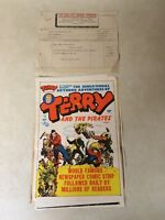 TERRY and the PIRATES #6 cover proof art 1947 Caniff Rare with Invoice Harvey