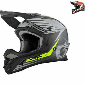 Oneal 1 Series Stream Motocross Helmet Lightweight Fiberglass Off-Road ATV Lid