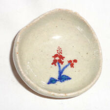 Japanese Butter Pat Hand made Porcelain Hand painted glazed with Lilies