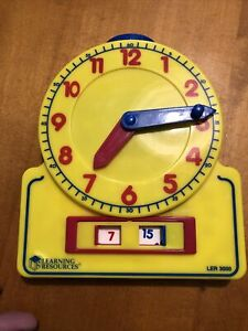 Learning Resources Clock Learn to Tell Time Teaching Aid Clock Face and Digital