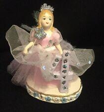 "Katherine's Collection Retired Pink Birthday ""4"" Fairy Figurine Display"