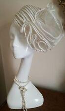 Authentic christian dior licence Vintage Chapeaux Ivoire Chapeau Blanc SUPERBE!