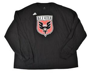 adidas MLS Mens DC United Soccer Long Sleeve Shirt New 2XL