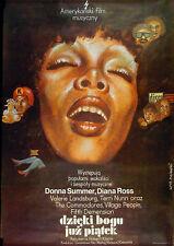 THANK GOD IT'S FRIDAY 1977 Donna Summer LECH MAJEWSKI POLISH POSTER