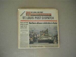 2001 Mark McGwire Retires St. Louis Cardinals Post-Dispatch Commemorative Paper