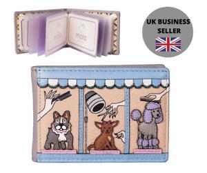 RFID Beau dog credit card / ID holder by Mala Leather 651 89 bulldog poodle