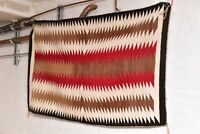"Antique Navajo Rug native american indian weaving Textile LARGE 63""x39"" Vintage"