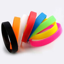 2pcs Rubber Elasticity Silicone Wristbands Wrist Band Fluorescence Bracelet HOT